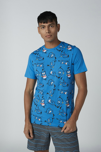 Sustainability Slim Fit Genie Printed T-shirt with Crew Neck