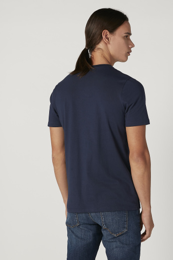 Sustainable Slim Fit Printed T-shirt with Crew Neck