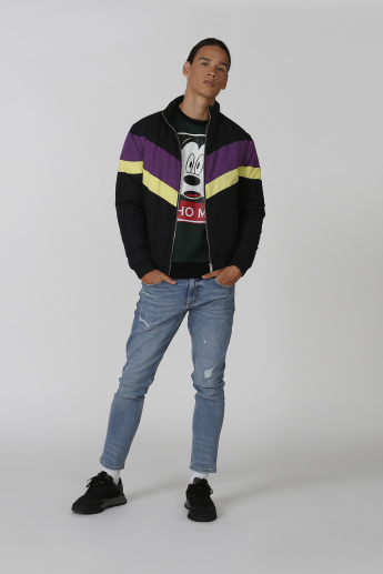 Sustainable Mickey Mouse Printed Sweatshirt with Long Sleeves