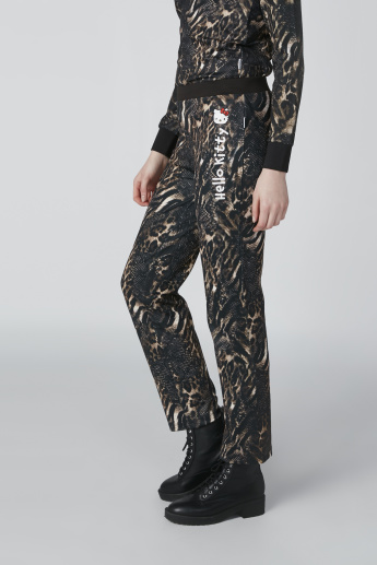 Hello Kitty Printed Mid-Rise Pants in Slim Fit
