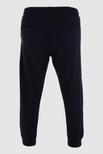 Printed Jog Pants with Elasticised Waistband and Cuffs