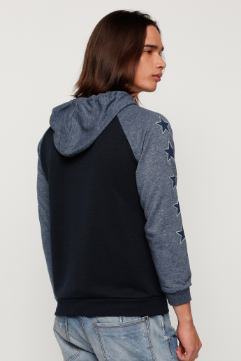 Printed Jacket with Hood and Zip Closure
