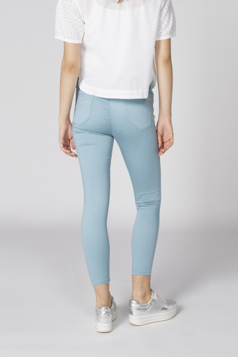Full Length Jeggings with Pocket Detail and Elasticised Waistband