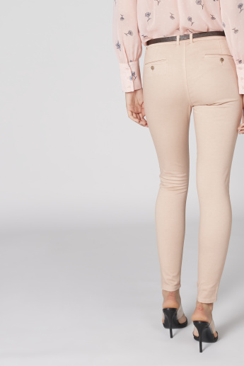 Full Length Chinos with Pocket Detail and Belt