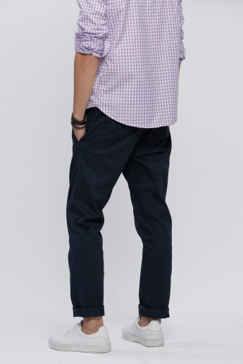 Full Length Chino Pants with Pocket Detail
