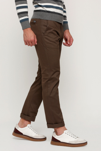 Full Length Trouser with Button Closure