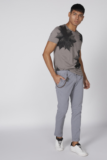 Full Length Chino Pants with Button Closure