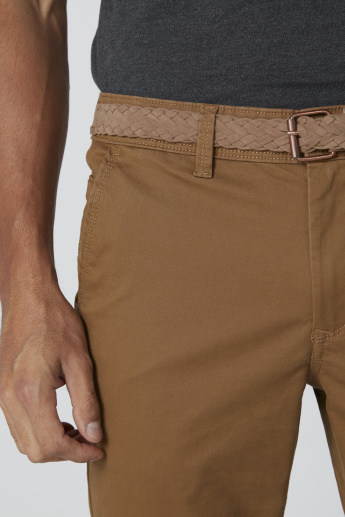 Mid-Rise Chinos in Slim Fit with Pocket Detail