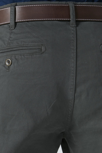 Mid-Rise Chinos with Pocket Detail