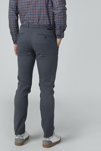 Plain Chinos with Pocket Detail
