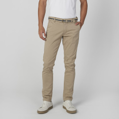 Sustainability Slim Fit Full Length Mid Waist Chinos with Belt Loops