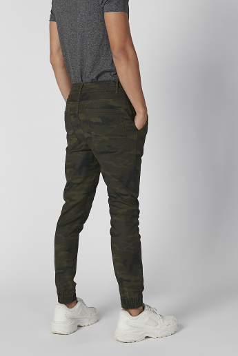 Sustainability Slim Fit Camouflage Printed Flexi Waist Jog Pants