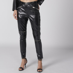 Full Length Pants with Zip and Pocket Detail